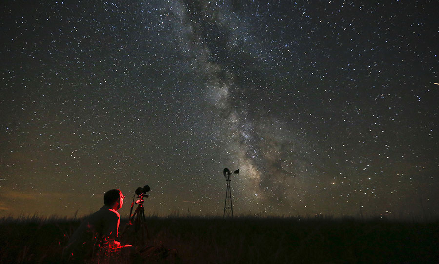 World inhabitants can't see the Milky Way