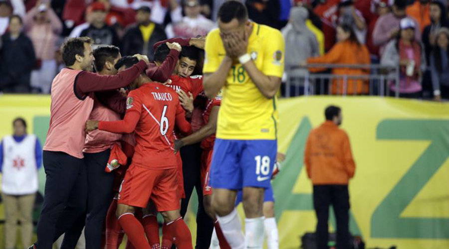 In a very controversial match, Peru eliminated Brazil from Copa América. Photo credit: AP / The Indian Express