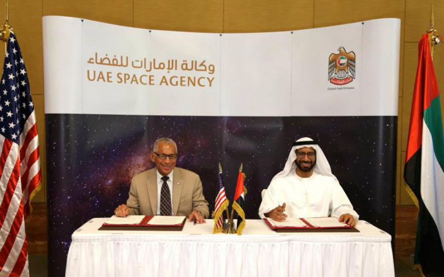 "It is now official that the United States and the UAE will join forces to work in aeronautics research and ""the exploration of airspace and outer space for peaceful purposes."" Photo credit: NASA / Engadget"