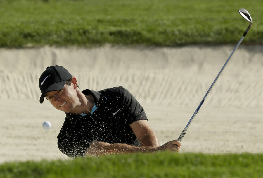 McIlroy shows his skills as a pro golfer as the player gets his ball out of the sand pit at Oakmont. Image Credit: Digital Web