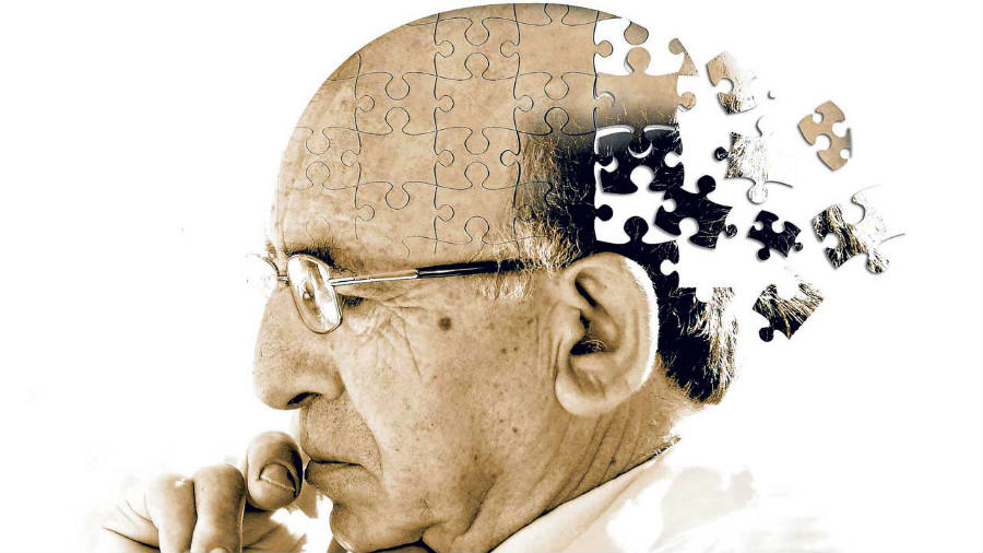 A picture representing an artists' take on dementia and alzheimer disease, as the memory starts fading away like missing pieces of a puzzle. Image Credit: DocAdvise