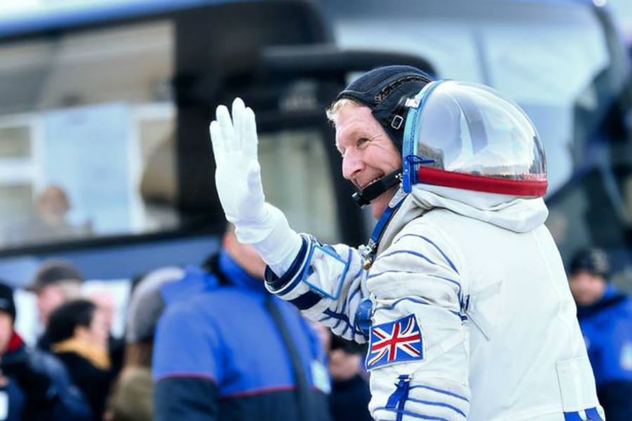 He is expected to give his first press conference on Tuesday since arriving at the European Space Agency's astronaut base. Image Credit: Mirror