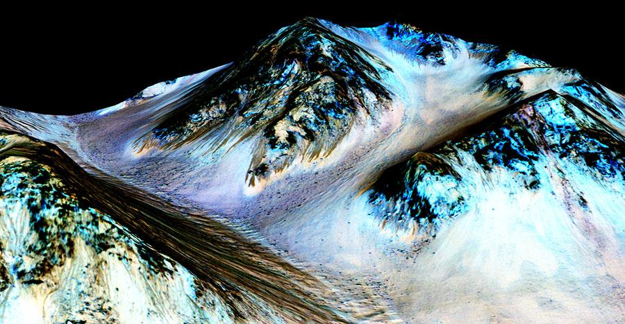 Martian salts