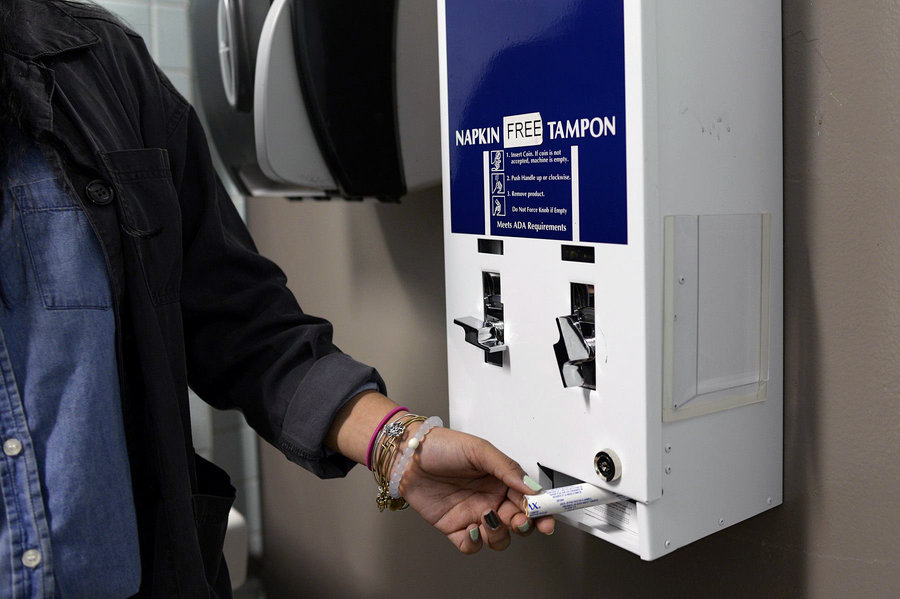 Once the mayor signs, the city authorities will require installing product dispenser across the city's 800 public schools and other state entities. Image Credit: NPR