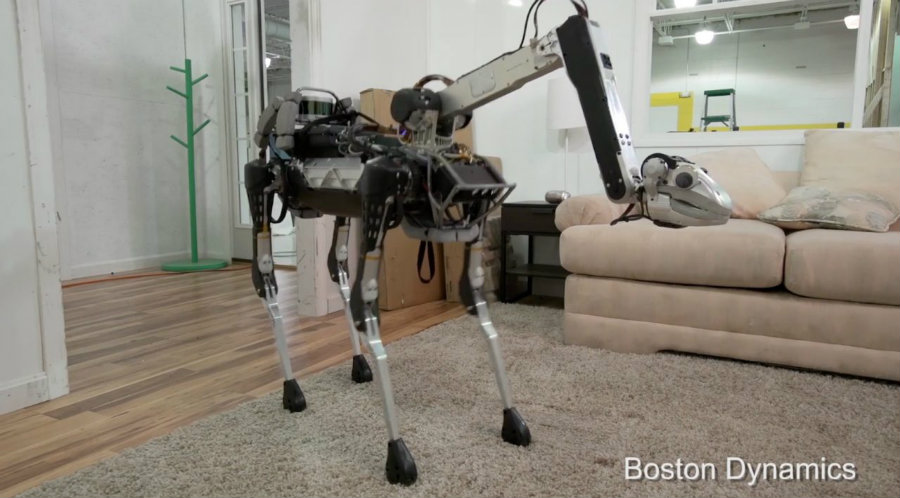 Alphabet's Boston Dynamics has announced SpotMini, a 65-pound robot that can help its owner by putting dishes into a dishwasher and throwing away trash. Photo credit: Boston Dynamics / Slash Gear