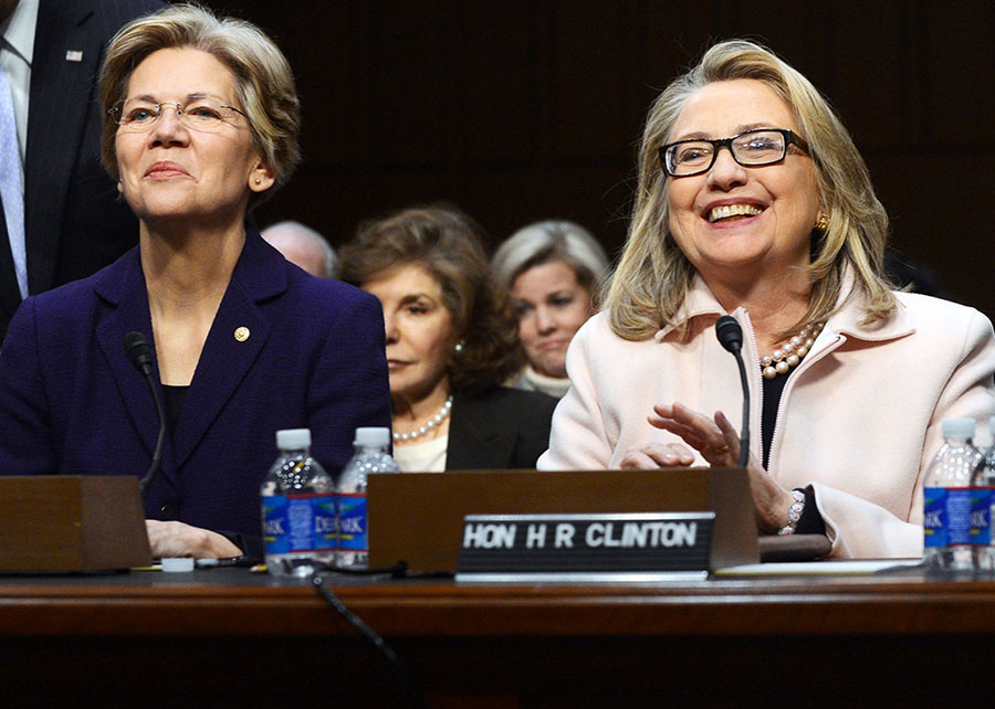 Clinton and Warren campaign together