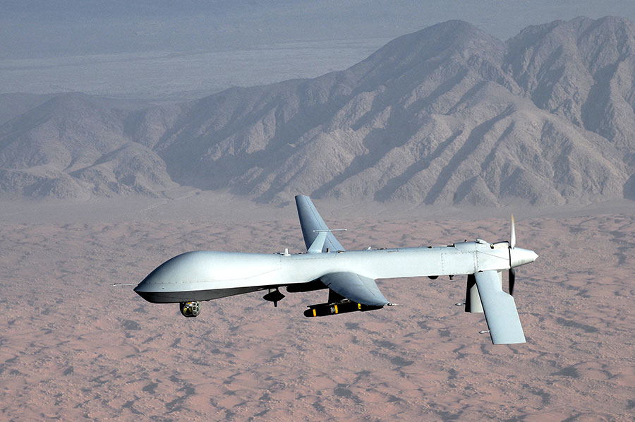 A Predator drone; sometimes used in targeted killings. Credit: Wikipedia