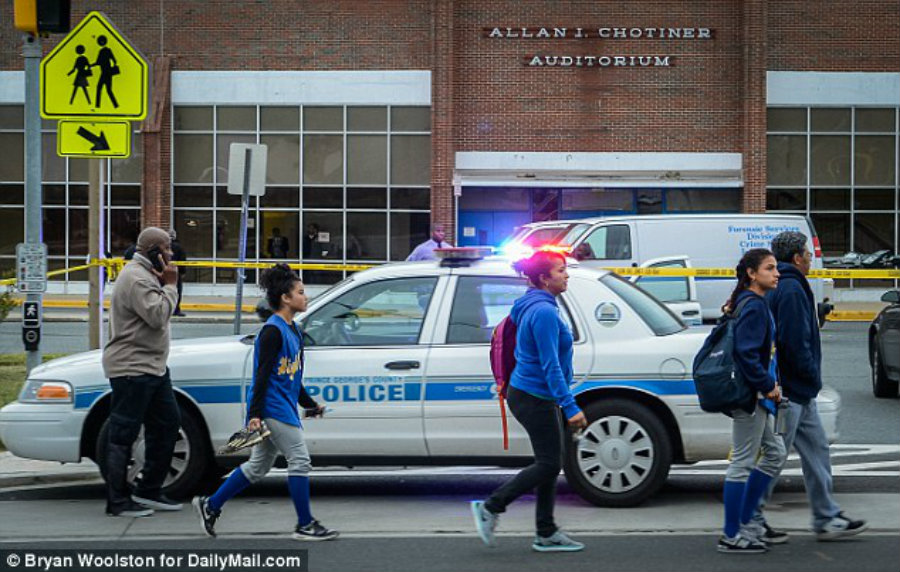The shooting in Maryland City is nothing but the latest of a series of attacks using handheld guns or automatic rifles in the United States. Image Credit: Daily Mail