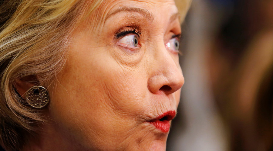 """The Associated Press confirmed last year that Clinton used her family's server instead of central servers to communicate via email. After all, content was revised, 65 emails were classified as """"secret,"""" and 22 as top secret. Image Credit: RT"""