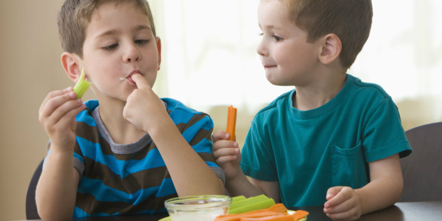 Marketing is responsible for kids developing unhealthy food habits, but this advertisement tool can also work to encourage children to eat healthily. Photo credit: Blend Images - Kidstock Via Getty Images / The Huffington Pot