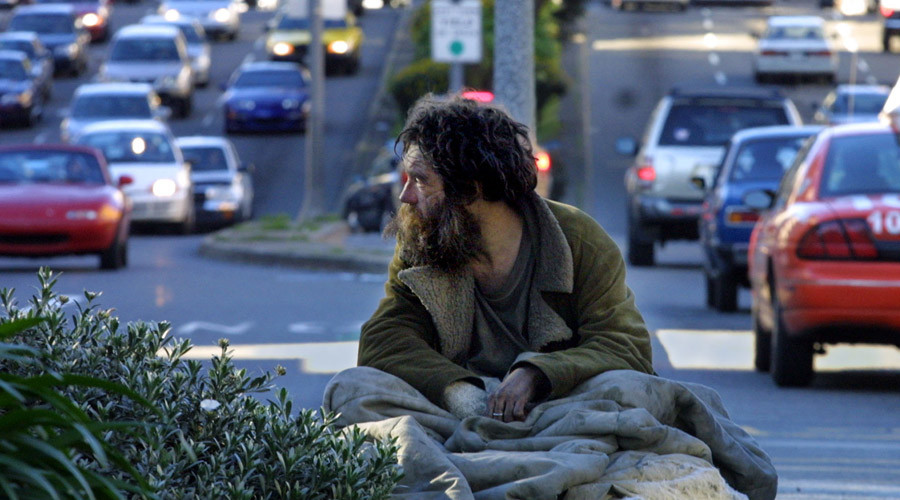 Over the past few years, San Francisco has seen the highest rates regarding the homeless people on average in the city's urban areas. Image Credit: RT