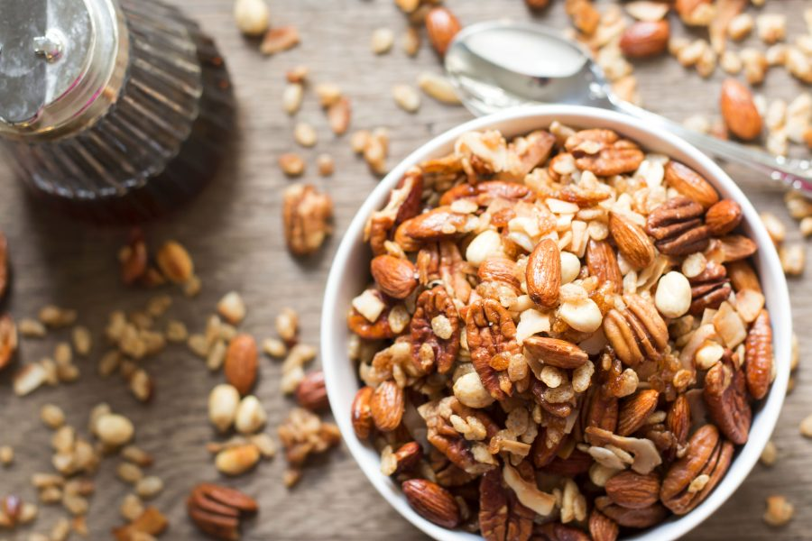 Granola is mostly considered as healthy, although experts do not recommend it for having too much added sugar. Photo credit: Gluten Free With LB