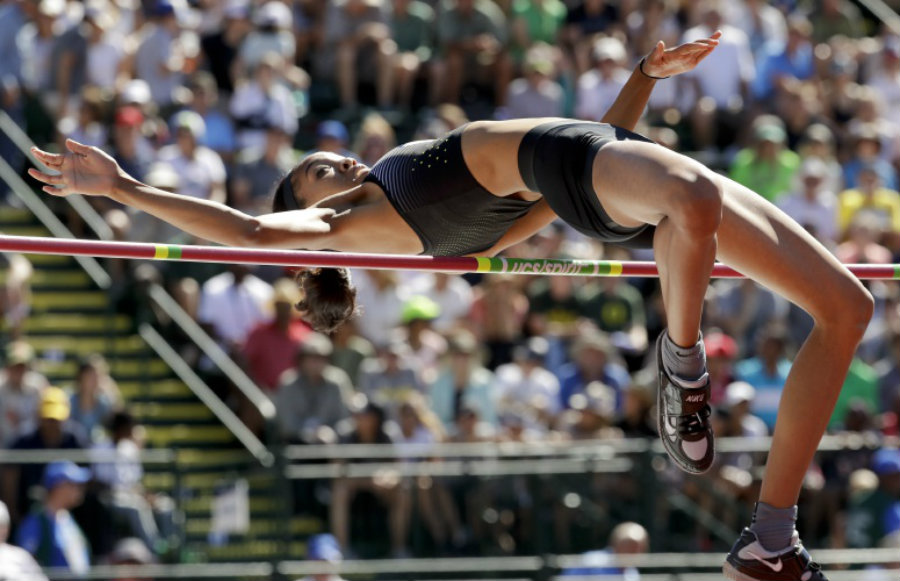 A file foto featuring Vashti Cunningham in 2013, representing the United States in track & field performances. Back in 2013, the USA team got plenty of gold medals from different sports. Image Credit: Gazzete Net