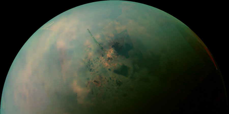Chemicals found on Saturn's moon Titan might show evidence of prebiotic conditions in the satellite, according to a new study from scientists at Cornell University in New York. Photo credit: The Huffington Post