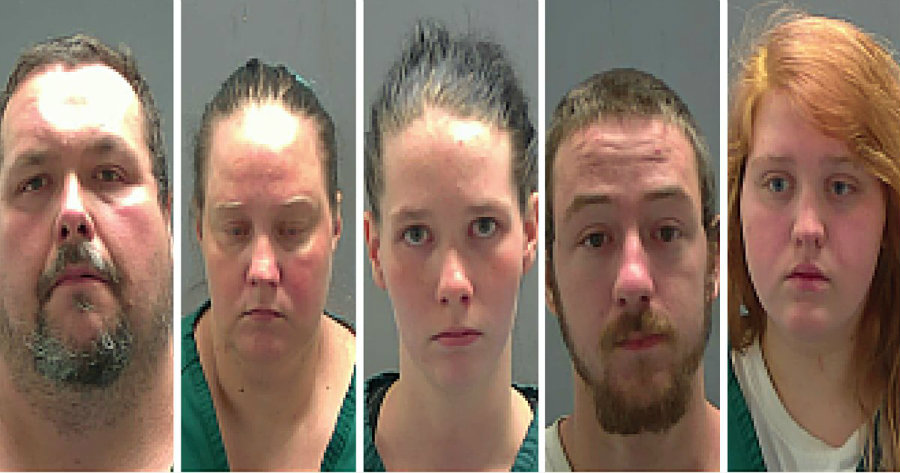 The Tangipahoa Parish police department has arrested five people for forcing an autistic woman into prostitution. Photo credit: Tangipahoa Parish Sheriff's Office / Fox 13 Now