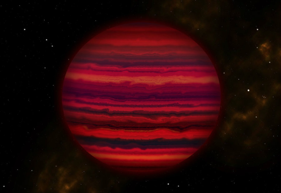 Astronomers have found the first object outside the solar system with clouds of water in its atmosphere. Photo credit: UCSC/Joy Pollard/Gemini Observatory/AURA