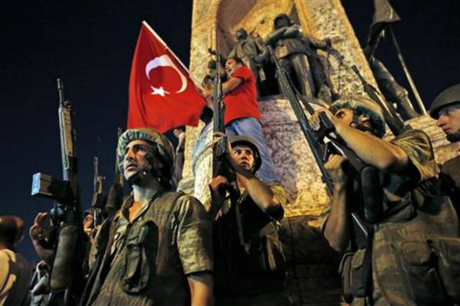 A group of turkish military members tried to introduce a coup on the current government. The crew was composed of two sergeants, three majors, and three captains, said CNBC News. Image Credit: SacBee