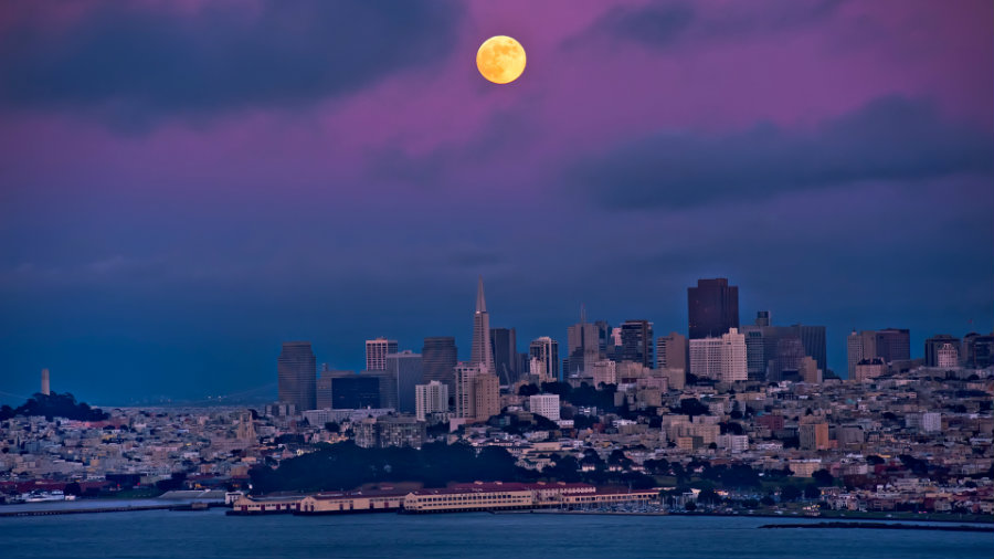 The full moon of July, also known as Full Buck Moon, will rise above the horizon on Tuesday evening. Photo credit: Pacific Sun
